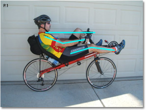 лежащ велосипед